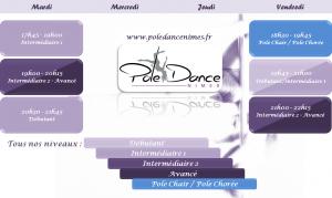 Planning des cours Pole Danse Nîmes
