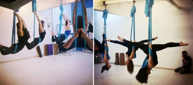 Cours de Fly Yoga chez Pole Dance Nîmes